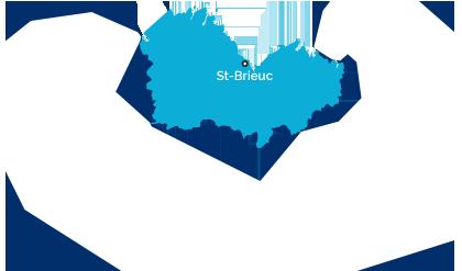Carte côtes d'Armor