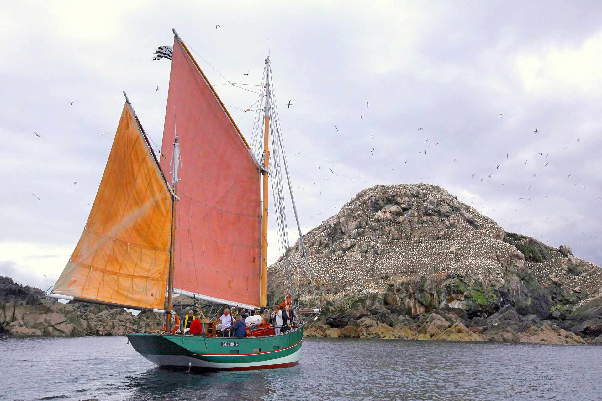 Voilier traditionnel, archipel des 7 îles