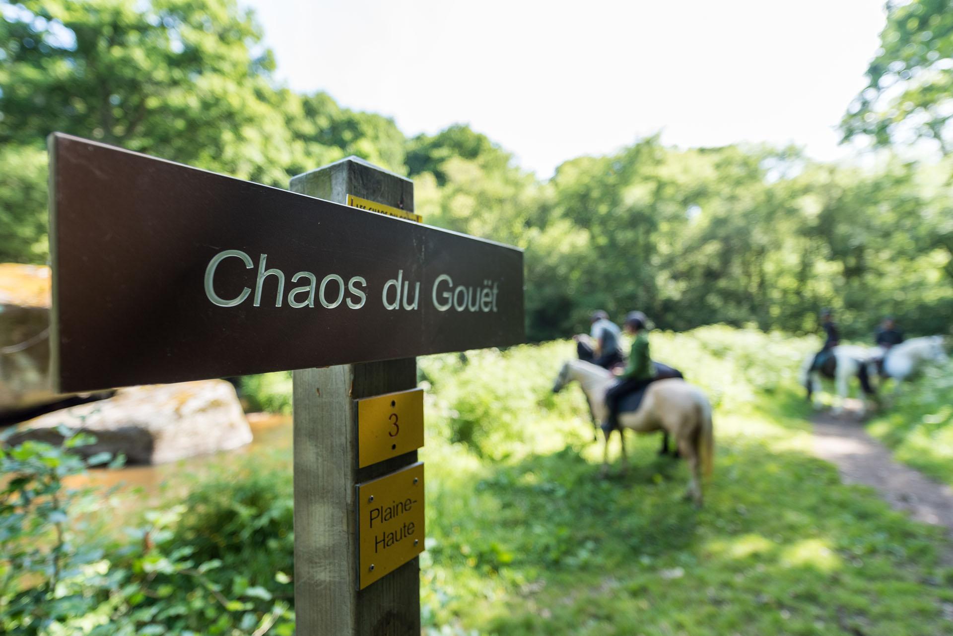 balade à cheval dans la vallée du Gouët, Plaintel