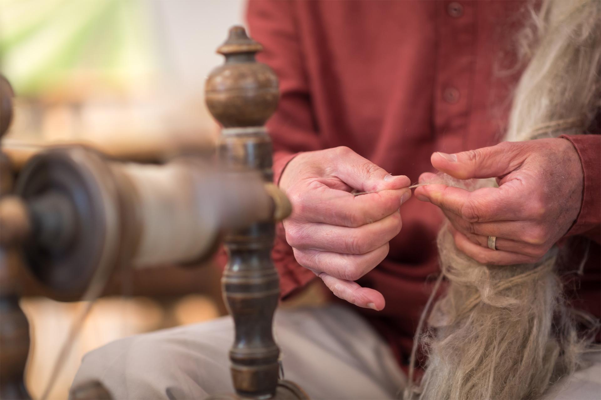 Fillage du lin, atelier de Quitin