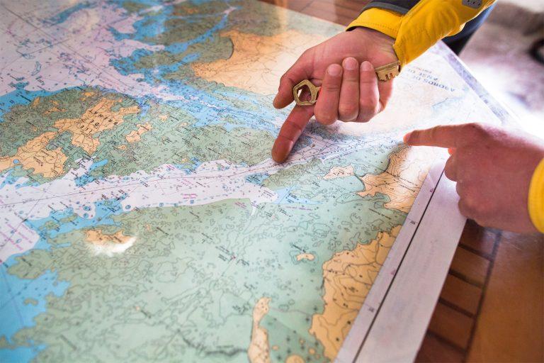 Carte de l'archipel de Bréhat