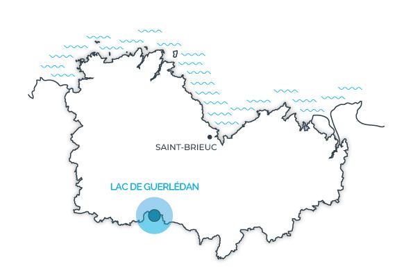 Lac de Guerlédan, Côtes d'Armor