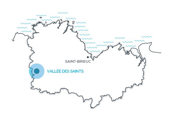 Vallée des Saints, Côtes d'Armor