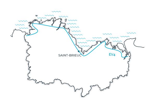 Carte Velomaritime, Côtes d'Armor