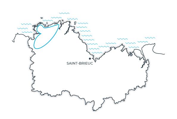 Carte route touristique du Trégor