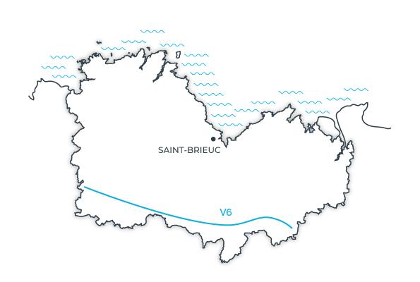 Carte V6, Bretagne