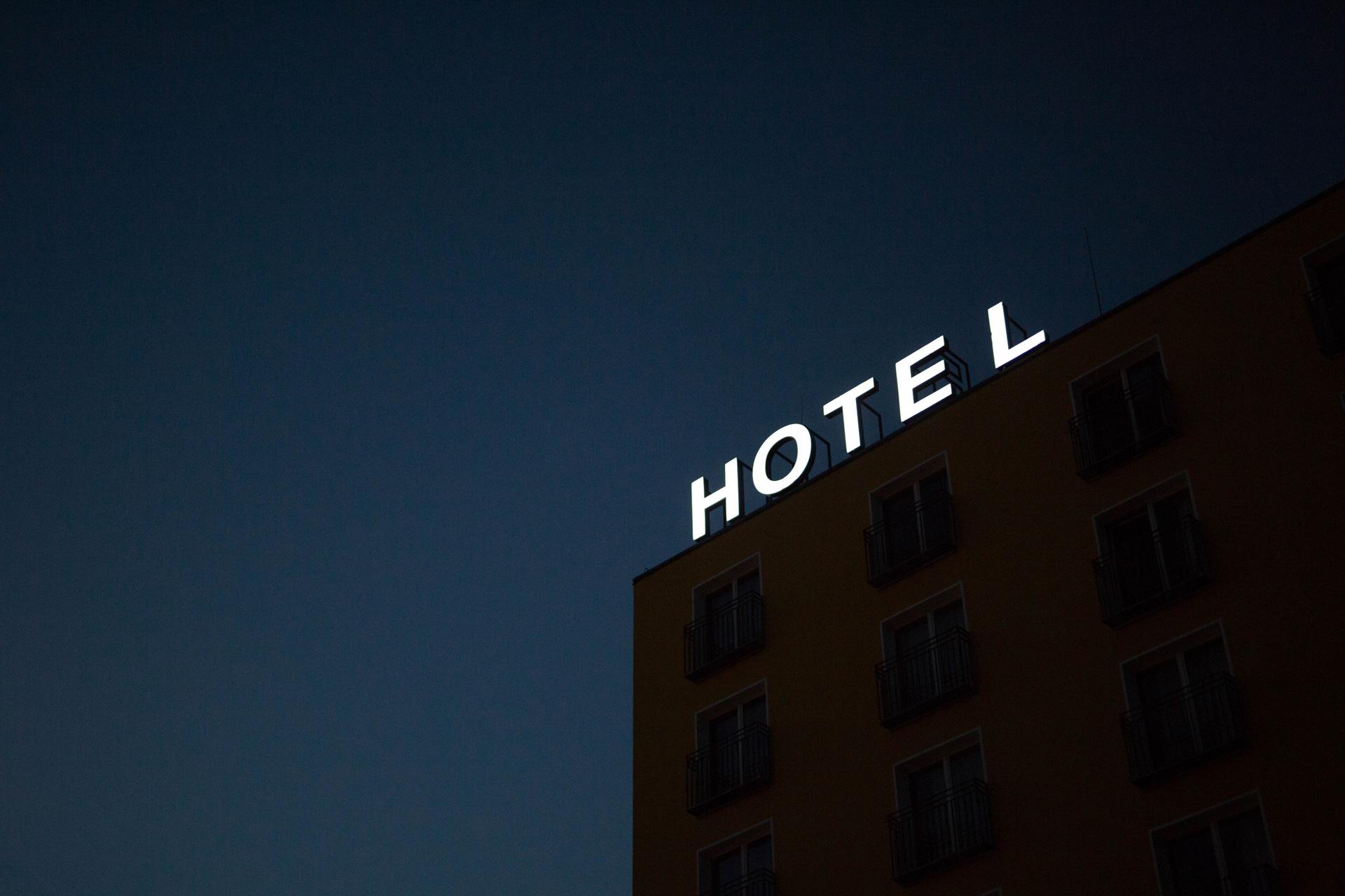 Devanture d'Hôtel