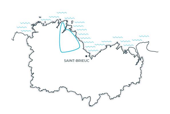 Carte de la route touristique du Goëlo, Côtes d'Armor