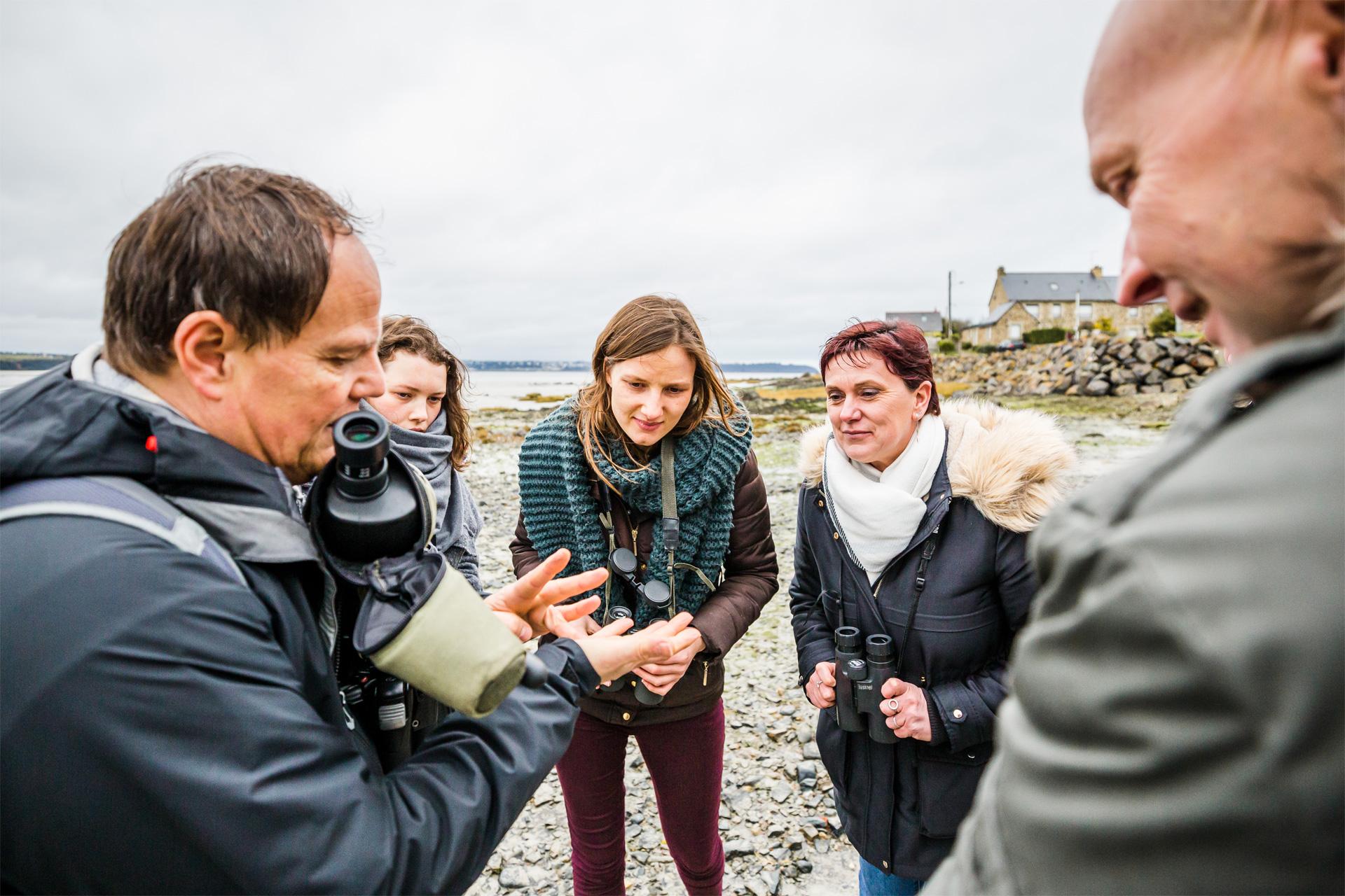 Guide lors de la visite de la Baie de Saint-Brieuc, Hillion