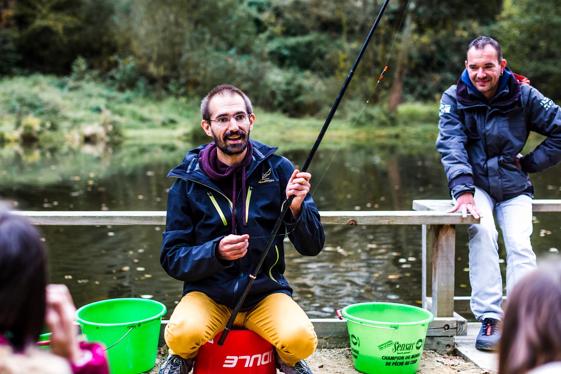 Initiation à la pêche à la Maison Pêche et Nature, Jugon-les-Lacs